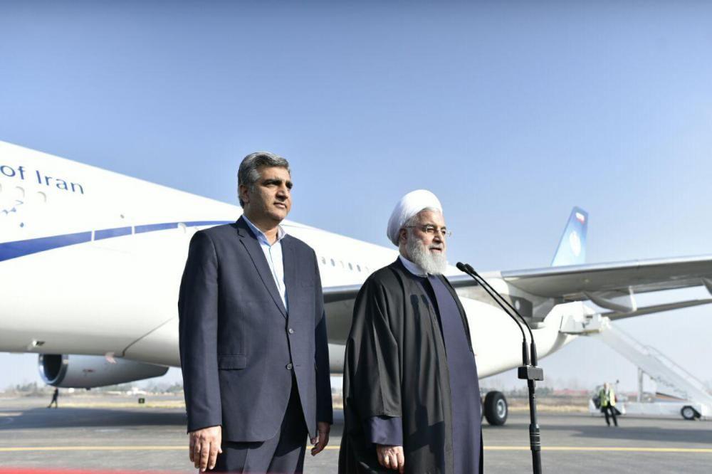 رئیس جمهوری در فرودگاه رشت؛ مردم استان گیلان مرزدار و میهماننواز هستند