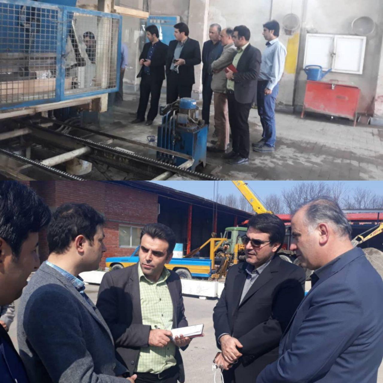 بازدید مهندس ناصر عطایی مدیر منطقه یک شهرداری رشت از کارگاه سازمان عمران شهرداری
