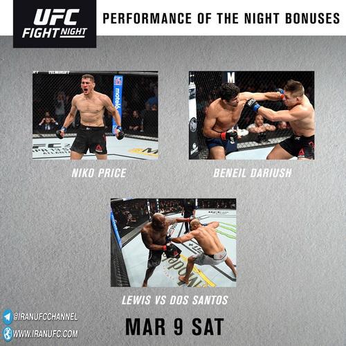 نتایج رویداد :  UFC Fight Night 146: Lewis vs. dos Santos