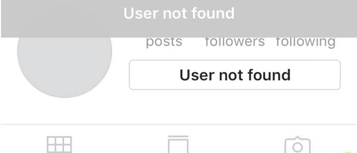 رفع مشکل User Not Found در اینستاگرام