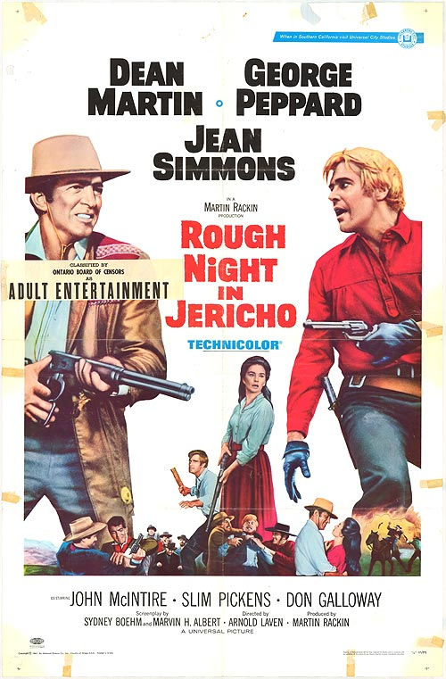 دانلود دوبله فارسی فیلم شب سخت در جریکو Rough Night in Jericho 1967