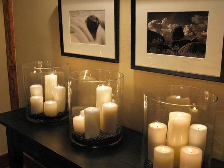 ایده شمع برای دکوراسیون