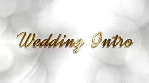 پروژه آماده افترافکت ایتارت فیلم عروسی : Wedding intro