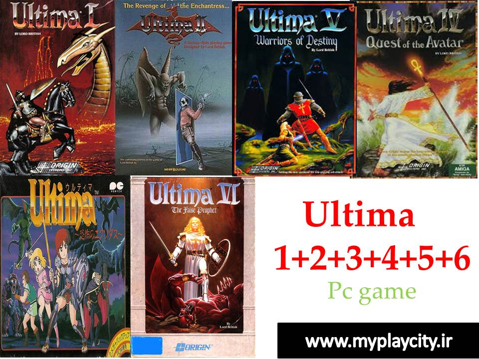 دانلود مجموعه بازی های Ultima 1+2+3+4+5+6 برای کامپیوتر