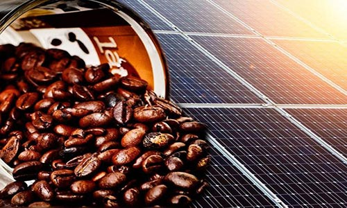 استفاده از کافئین برای تقویت انرژی سلولهای خورشیدی