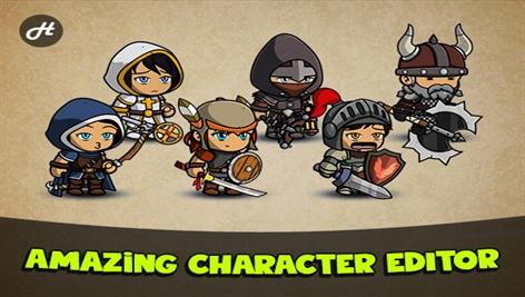 پکیج کاراکتر دو بعدی یونیتی Fantasy Heroes: Character Editor PRO