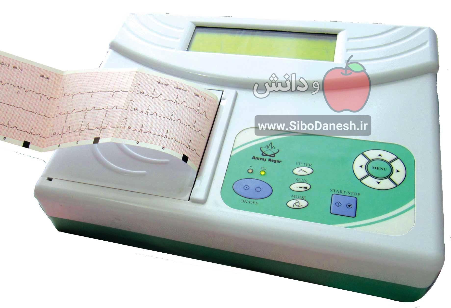 گزارش کار تفسیر نوار قلب و رسم محور قلب در الکتروکاردیو گرافی