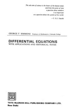 دانلود رایگان کتاب معادلات دیفرانسیل سیمونز