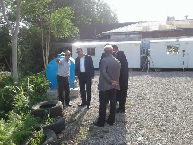 بازدید شهردار رشت از پروژه دیواره سازی حریم رودخانه در رودبارتان منطقه دو شهرداری