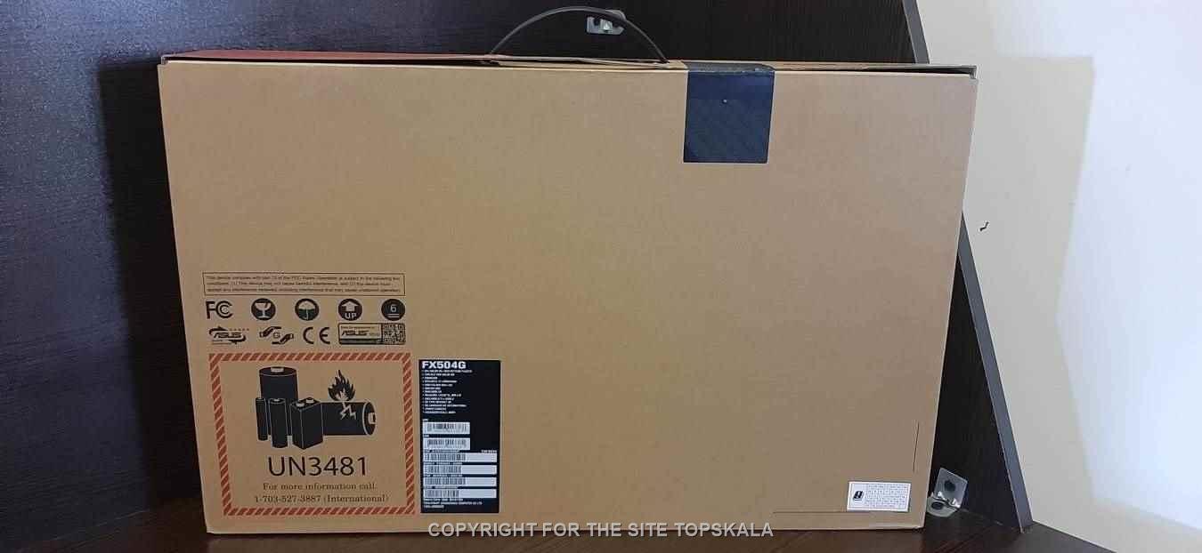 لپ تاپ آکبند ایسوس مدل ASUS FX504G TUF Gaming با مشخصات i7-8GB-1TB-SSHD-4GB 1050ti