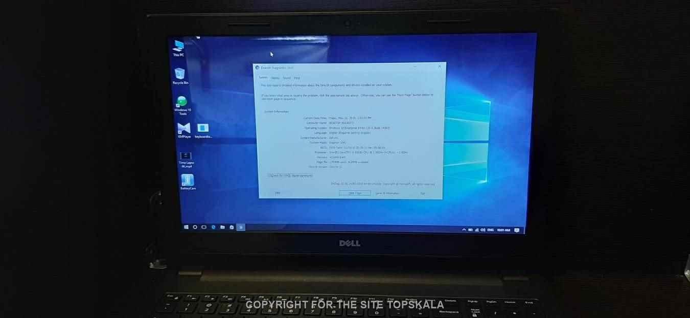 لپ تاپ استوک دل مدل inspiron 3543 با مشخصات i3-8GB-1TB-2GB-intel-HD