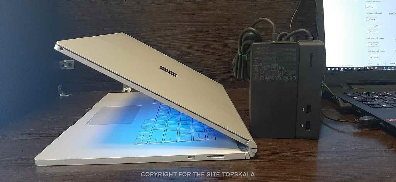 لپ تاپ استوک مایکروسافت مدل Microsoft Surface Book 2 با مشخصات i7-16GB-256GB-SSD-6GB-nvidia-GTX-1060