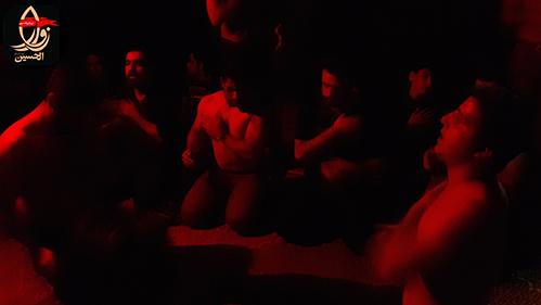 عزاداری وسینه زنی خادمین هیئت زوارالحسین در مراسم هفتمین سالگرد شهادت شهیددولت آبادی