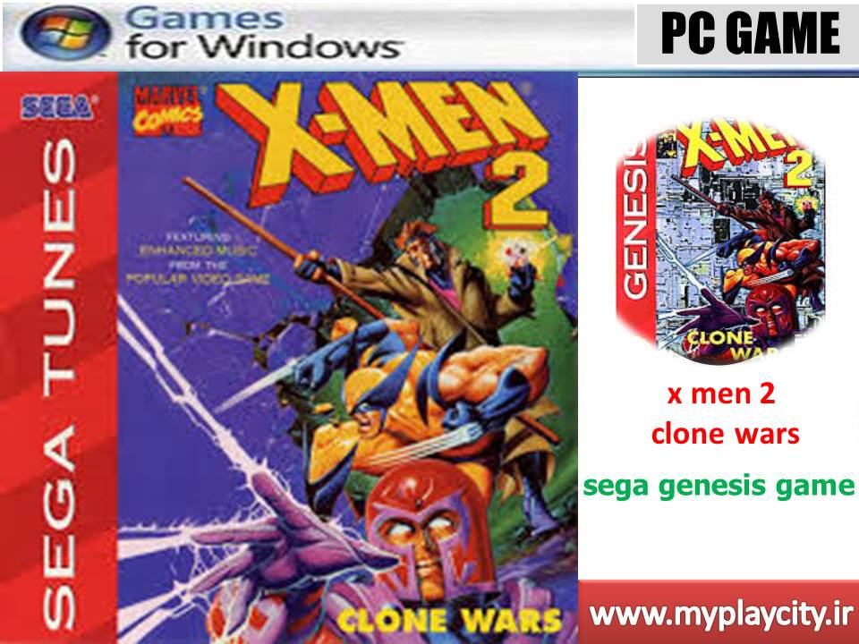 دانلود بازی سگا x men 2 clone wars برای کامپیوتر