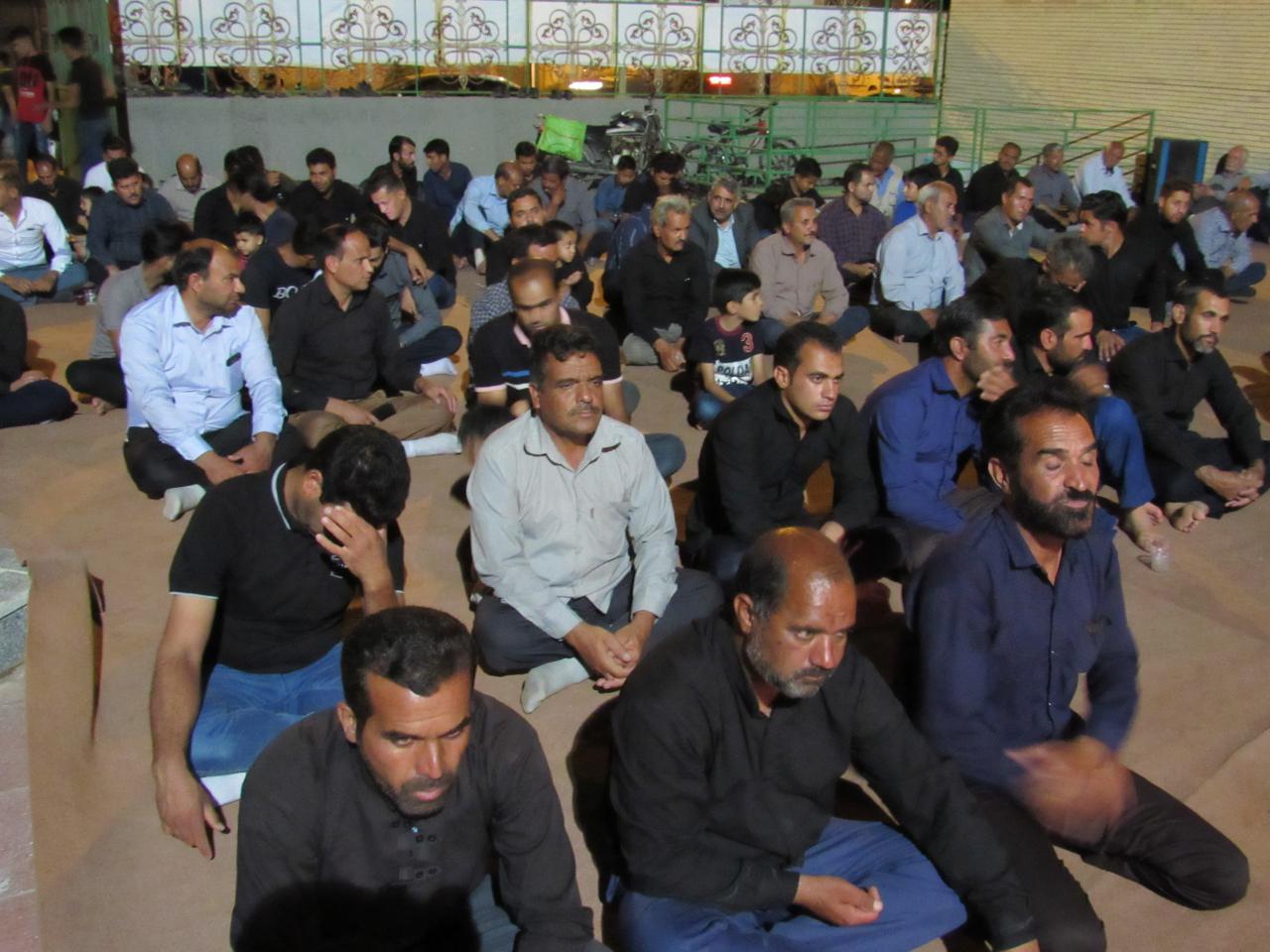 مراسم شام شهادت امام جعفر صادق(ع) در محله صادقیون  برگزارشد