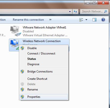 تنظیمات کارت شبکه