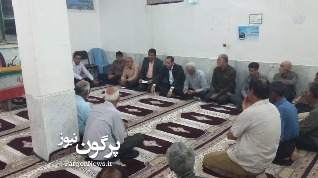 بازدید مردمی فرماندار در دهستان مبارک آباد