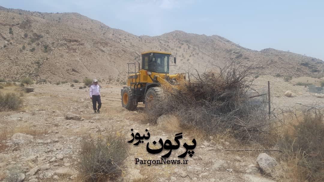 رفع تصرف سه هکتار از اراضی منابع طبیعی قیروکارزین