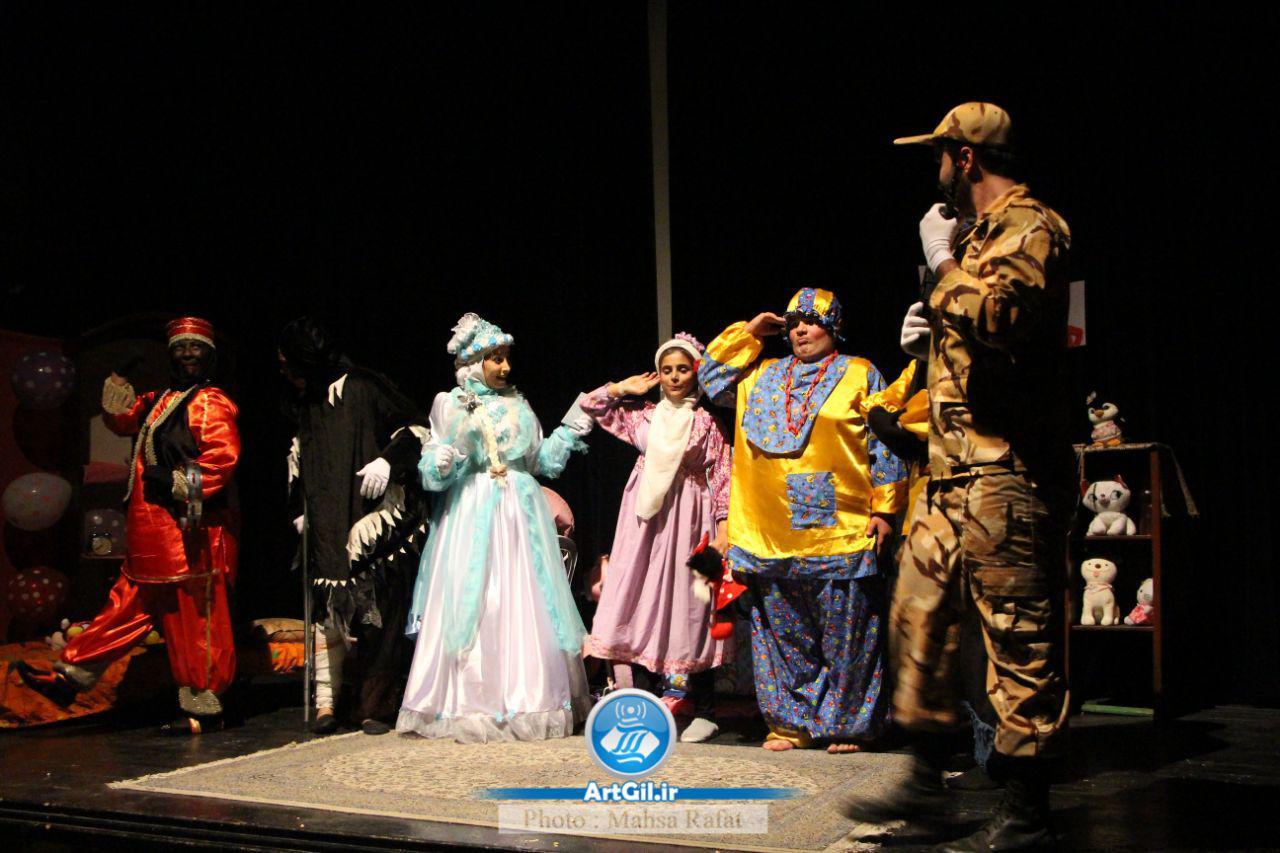 گزارش تصویری تئاتر یک دختر یک سرباز در رشت