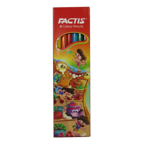 پخش عمده مداد رنگی 6 مقوایی فکتیس