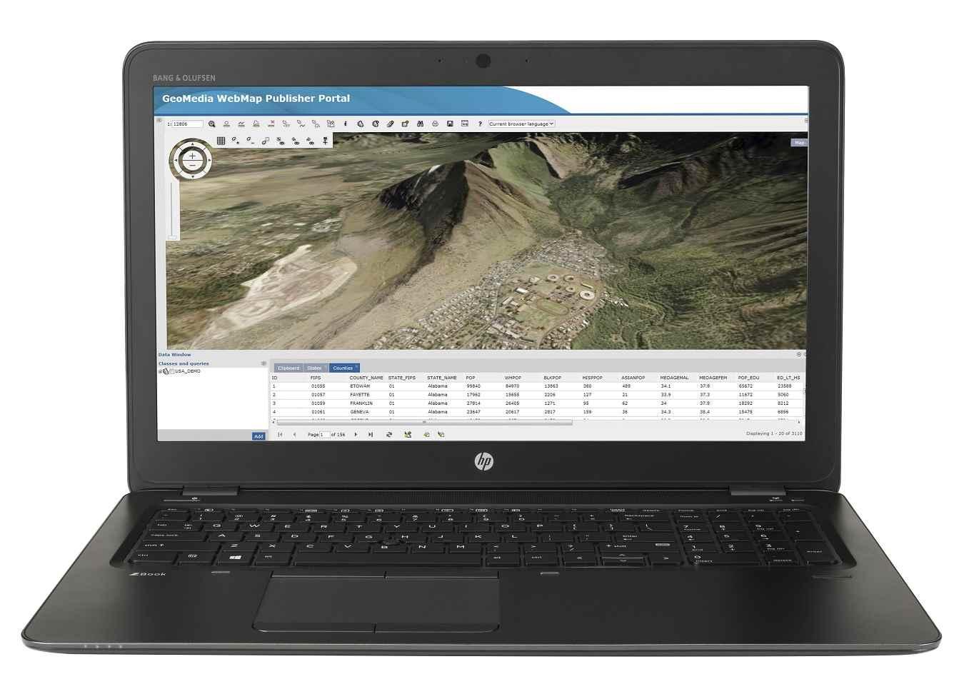 لپ تاپ استوک اچ پی مدل HP ZBOOK 15U G3 با مشخصات i5-6gen-8GB-256GB-SSD-2GB-Amd-Firepro-W4190M