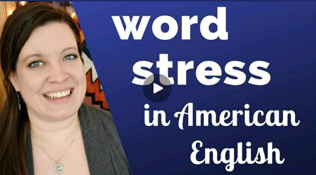 stress کلمات در انگلیسی آمریکایی