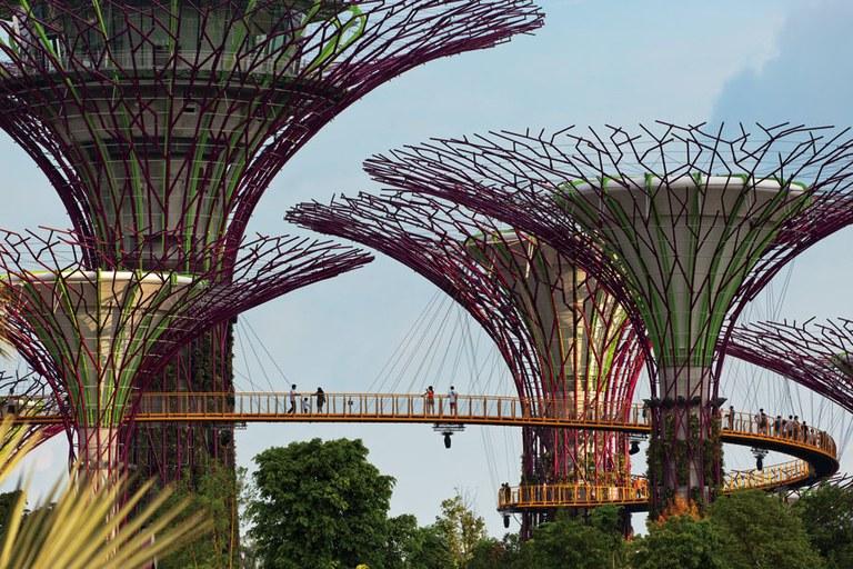 آثار برجسته معماری - بی گاردن در سنگاپور