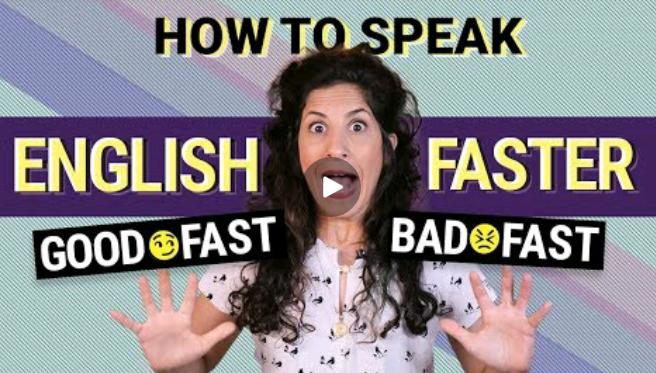 چگونه سریعتر به انگلیسی صحبت کنیم (سریع خوب_سریع بد)