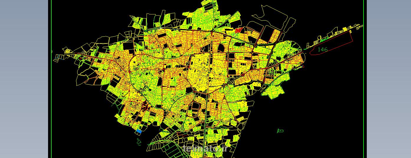 دانلود رایگان فایل اتوکد نقشه شهر معماری شهرستان خوی با فرمت (DWG) khoy autocad plan
